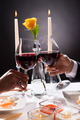 Couple Hands Toasting Wine - PhotoDune Item for Sale