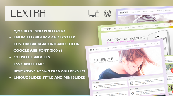 ThemeForest Lextra Clear Style Wordpress Theme 4643628
