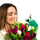 Woman worker with flowers. - PhotoDune Item for Sale