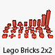 Lego Bricks 2x2 - 3DOcean Item for Sale