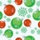 Seamless Xmas Ball Ornament in Color 77 - GraphicRiver Item for Sale