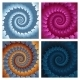 Abstract Spiral Background Set