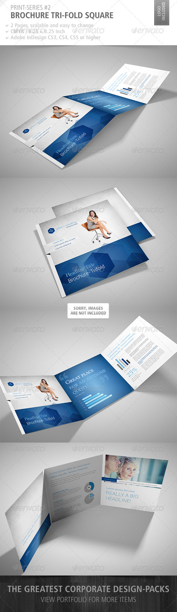 GraphicRiver Brochure Tri-Fold Square Print-Series #2 4695998