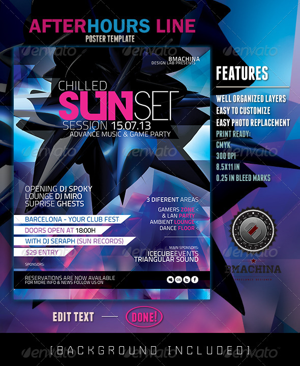 GraphicRiver Poster Template Cold Sun Set 4289087