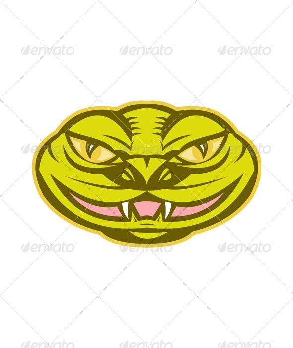 GraphicRiver Viper Snake Serpent Head 4696359