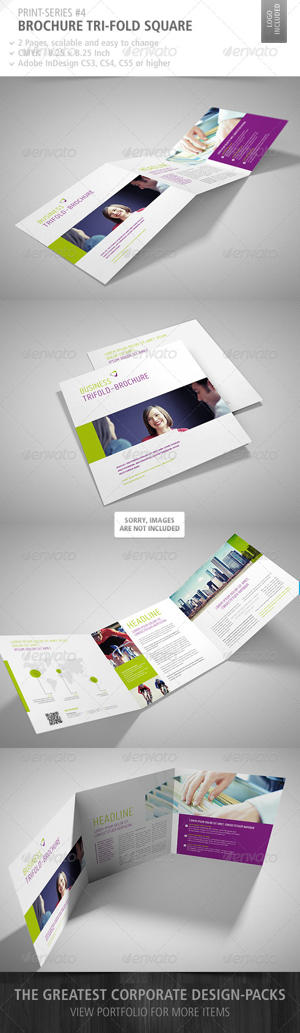 GraphicRiver Brochure Tri-Fold Square Print-Series #4 4696366