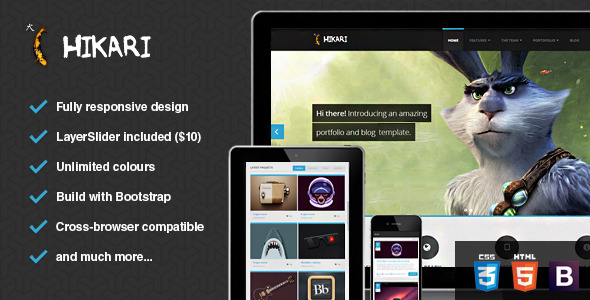 Hikari - Premium Portfolio and Blog Template