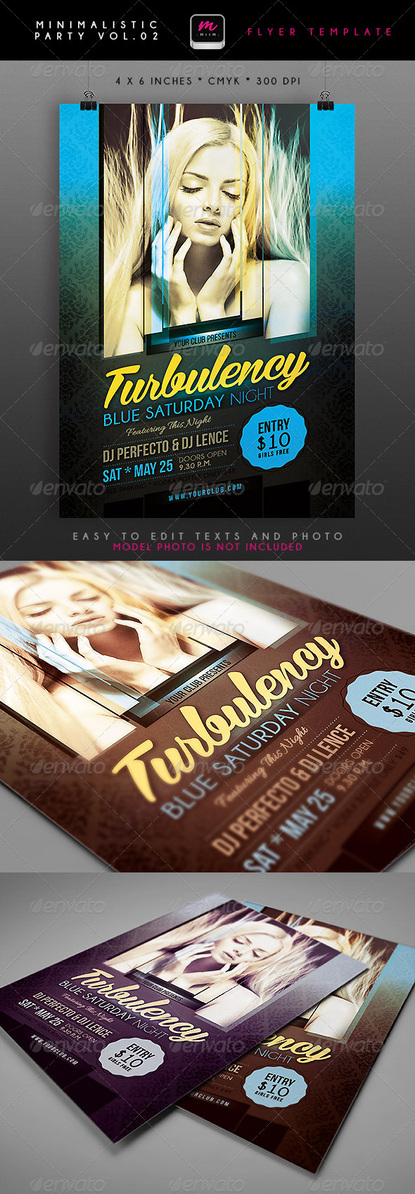 GraphicRiver Minimalistic Party Flyer 2 4696584