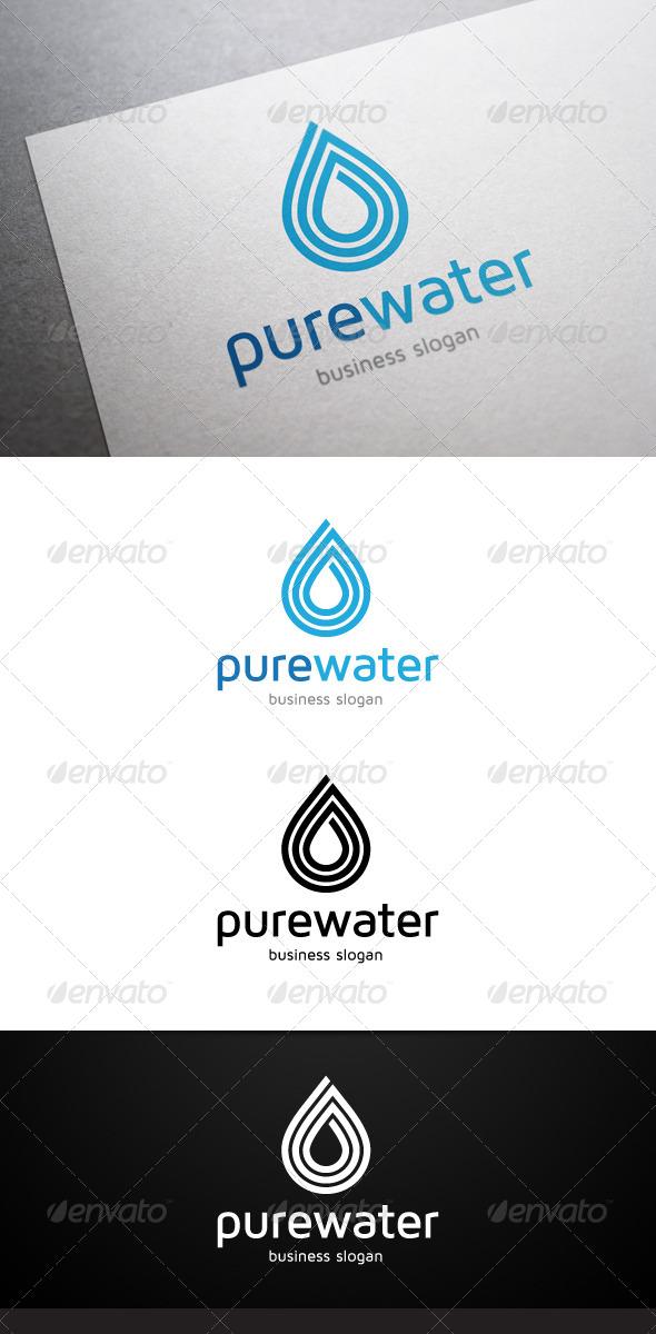 GraphicRiver Pure Water Logo 4696586