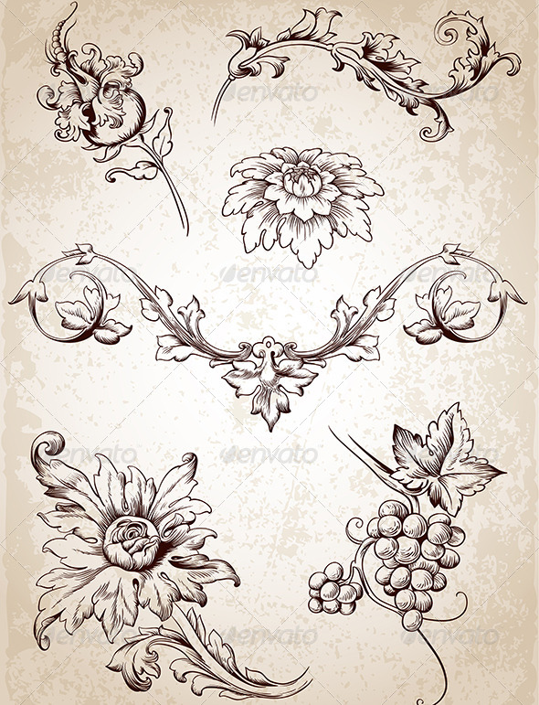 GraphicRiver Vintage Design Elements 4696592