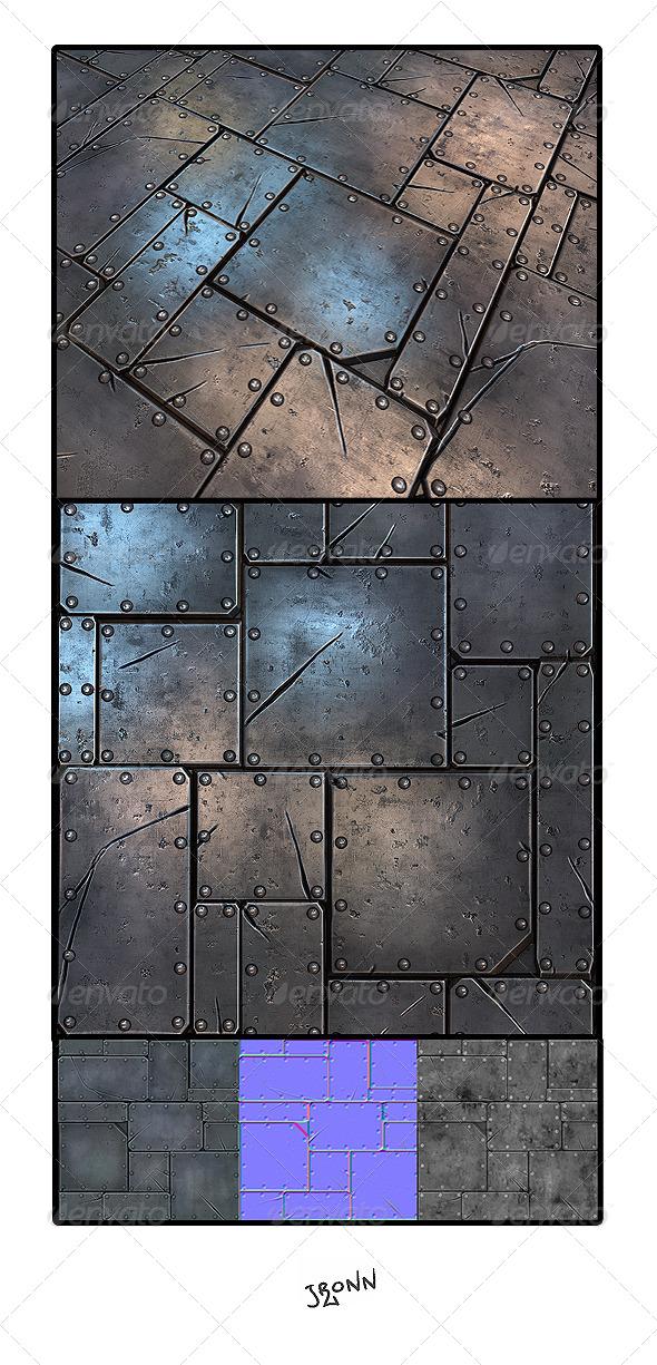 3DOcean Metal Plate Tile 01 4689409