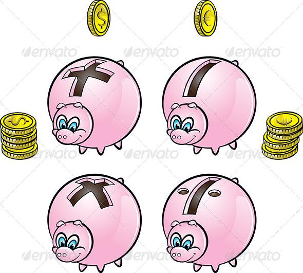 GraphicRiver Piggy Bank 4696863