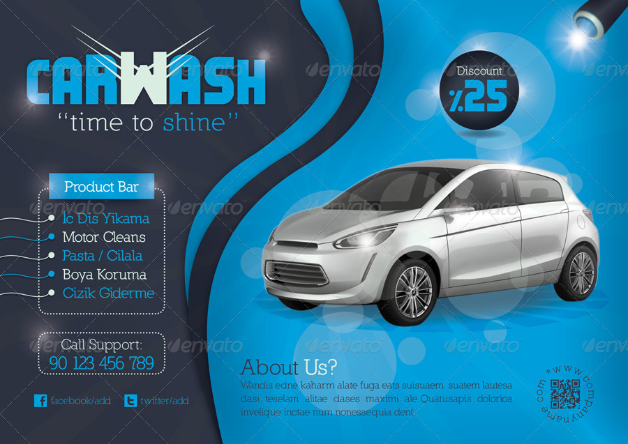 Car Wash Flyer Template by grafilker – Car Wash Flyer Template