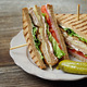 Club sandwich on a plate - PhotoDune Item for Sale
