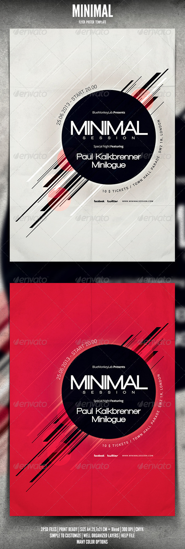 GraphicRiver Minimal Flyer Poster 4697472