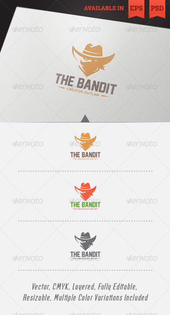 GraphicRiver The Bandit Logo Template 4697611