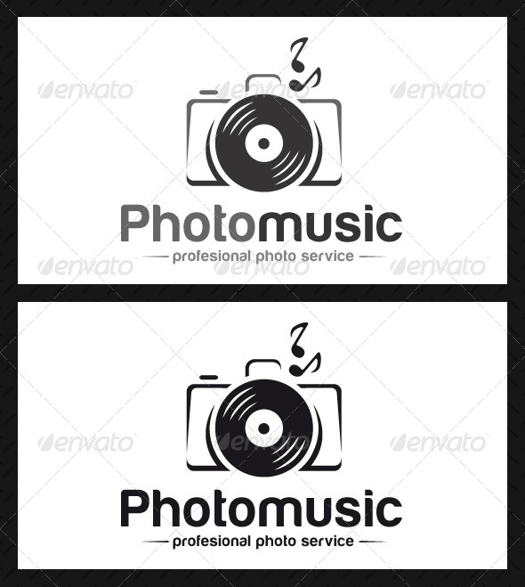GraphicRiver Photo Music Logo Template 4697728