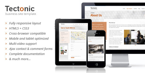 Tectonic Responsive HTML5 Template