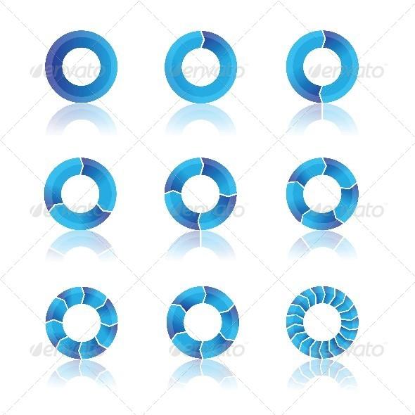 GraphicRiver Blue Diagrams 4698139