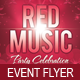 Red Music Party Celebration Flyer Template - GraphicRiver Item for Sale