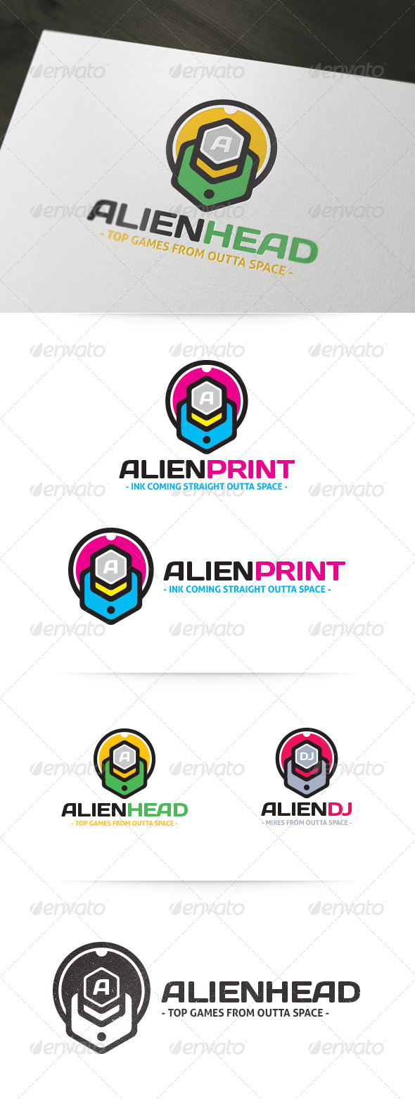 GraphicRiver Alien Head Logo 4698228