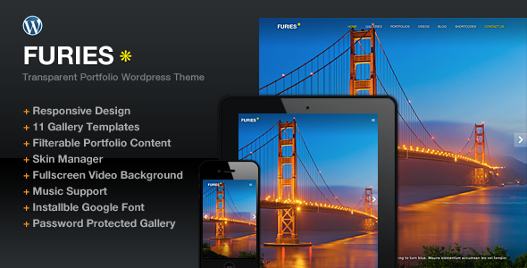 ThemeForest Furies Transparent Portfolio Photography Theme 4693438