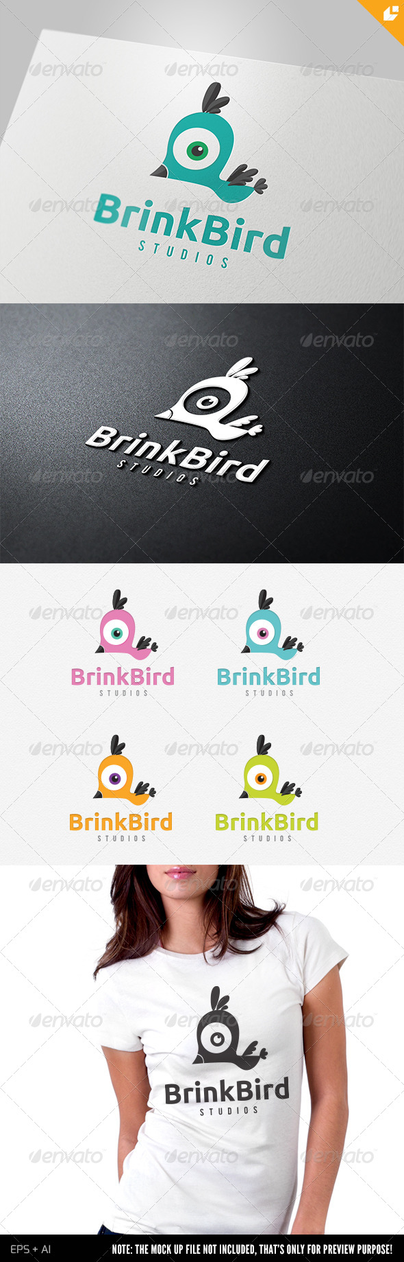 GraphicRiver Brink Bird Logo 4698256