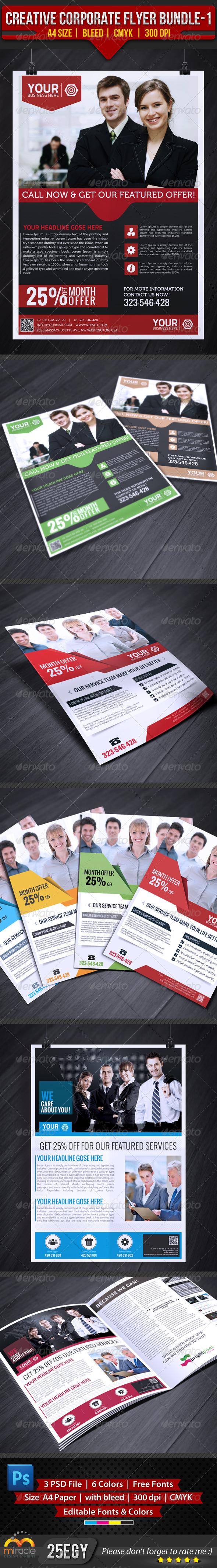 GraphicRiver Creative Corporate Flyer Bundle-1 4698261