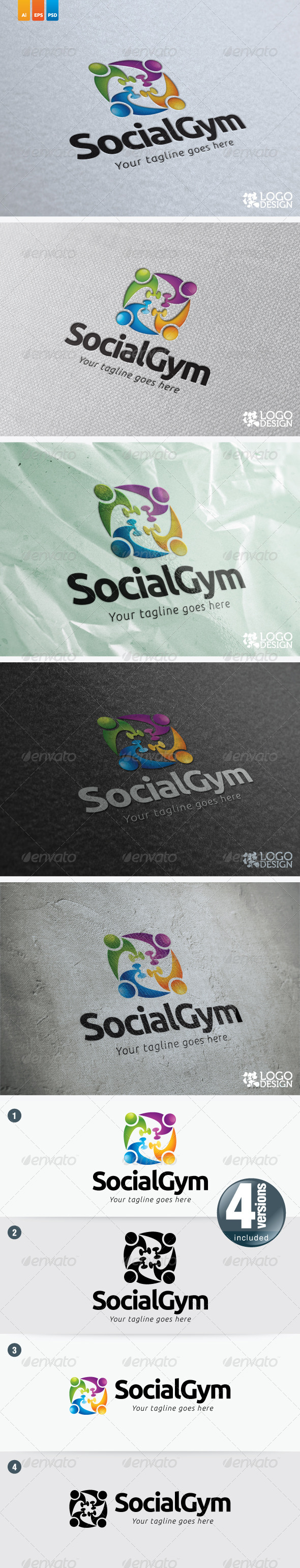 Social Gym - Humans Logo Templates