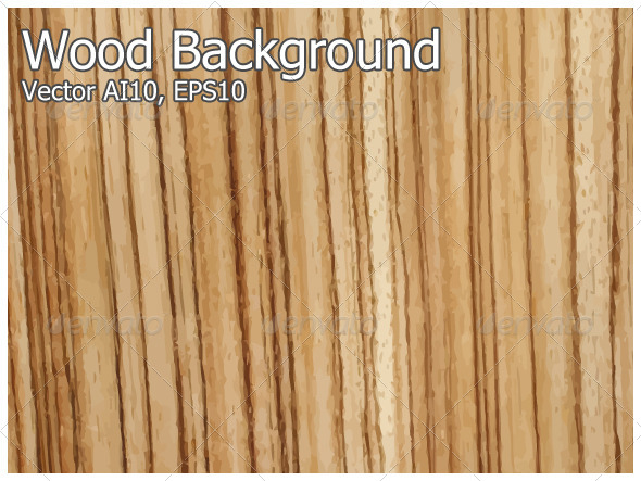 Wood Background Vector - Backgrounds Decorative