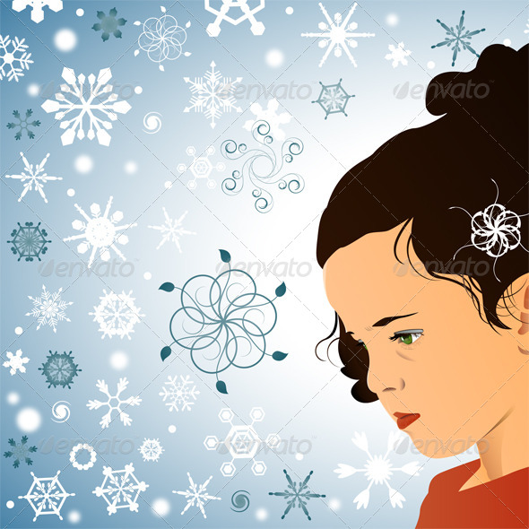 GraphicRiver Little Princess and Snowflakes 4698763