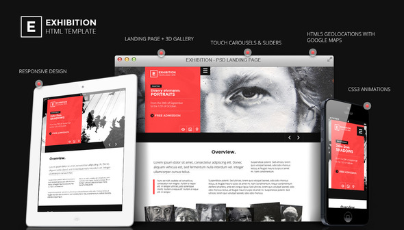 ThemeForest Exhibition HTML Landing Page Art Gallery Muesum 4666089