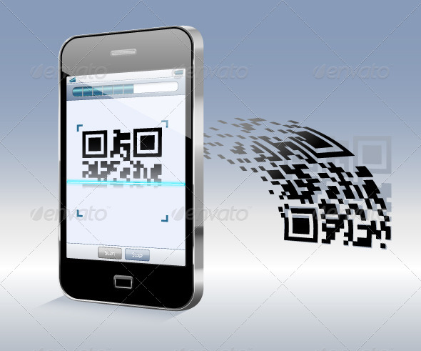 GraphicRiver Smartphone Scanning QR Code 4697878