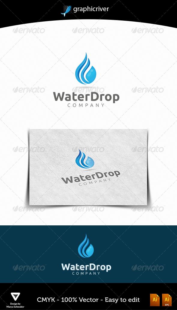 GraphicRiver Waterdrop Logo 4666067