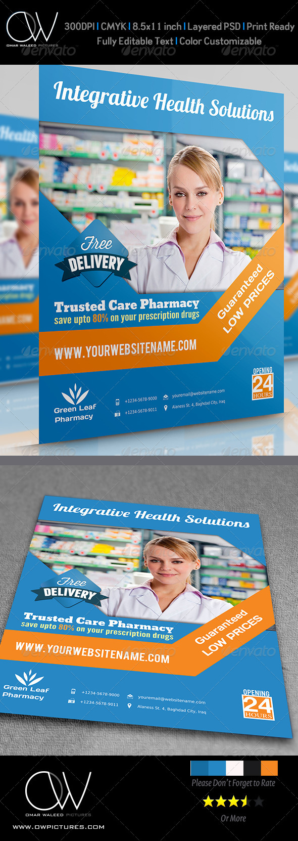 GraphicRiver Pharmacy Flyer Vol.2 4622584