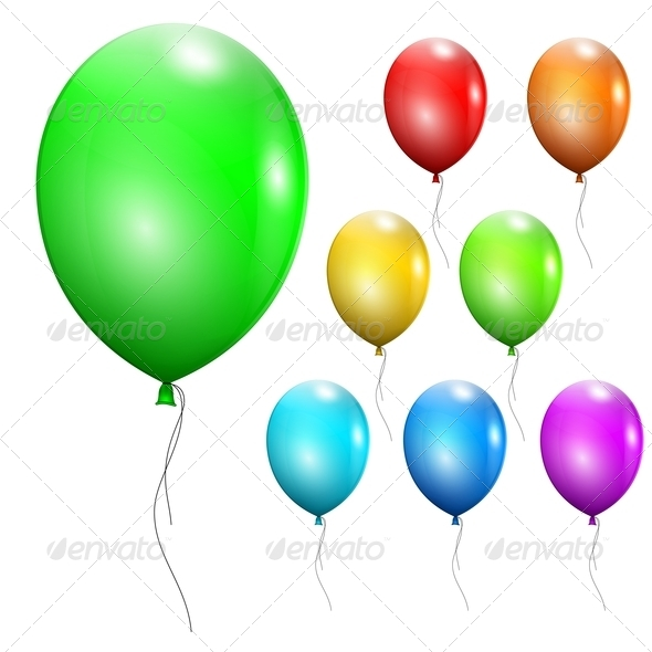 GraphicRiver Set of Multicolored Balloons 4699663