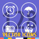 128 Vector Icon Thin Round - GraphicRiver Item for Sale