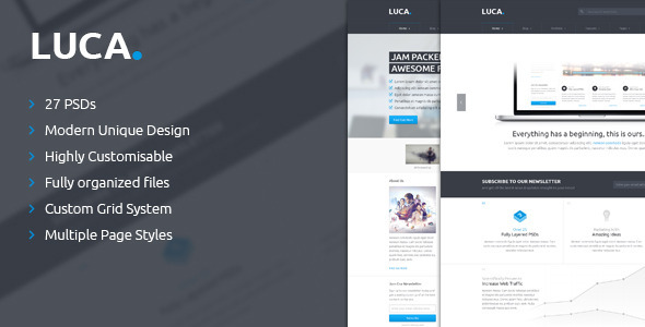 ThemeForest LUCA PSD Template 4699848