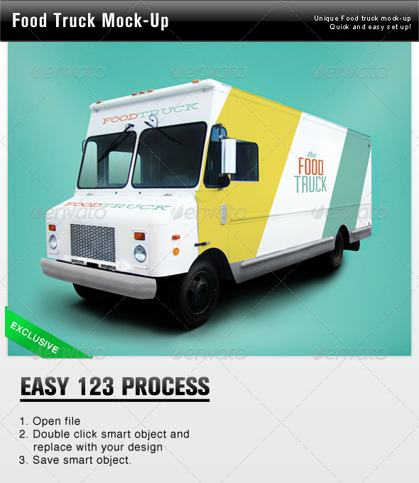 GraphicRiver Food Truck Mock Up 4485670