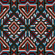 Design Ethnic Frame Rug in Dark Shades - GraphicRiver Item for Sale