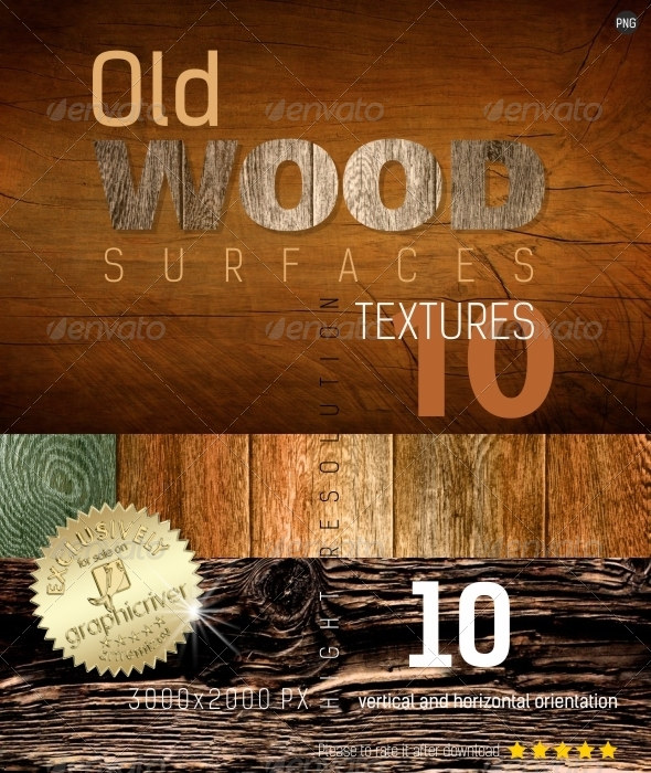 GraphicRiver Old Wood Surfaces Texture Backgrounds 4700833