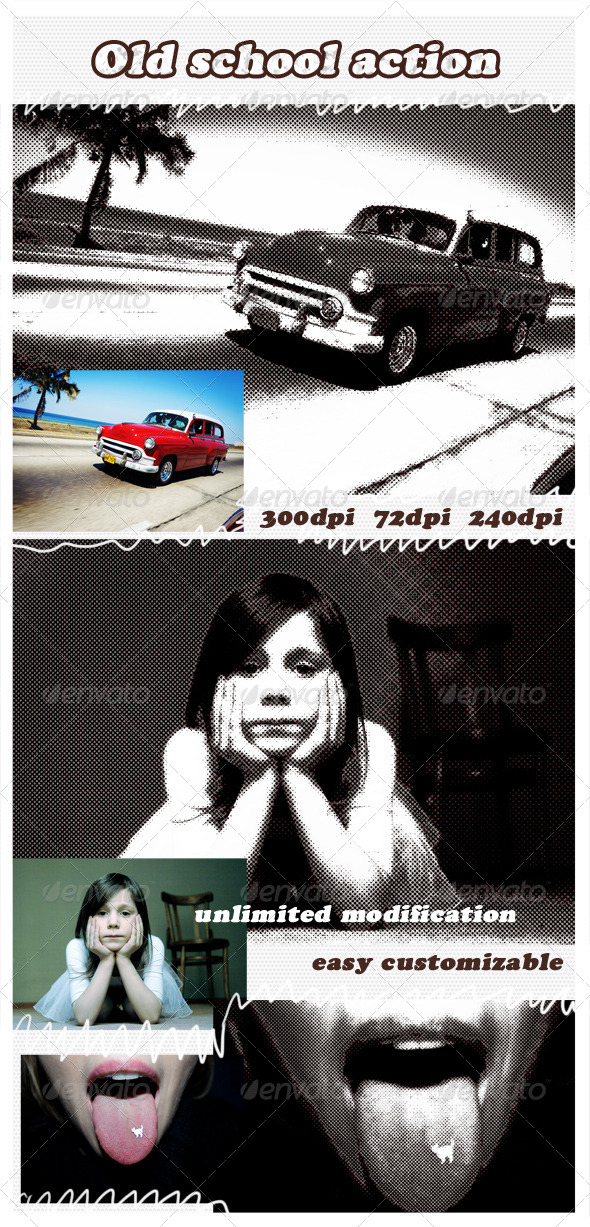GraphicRiver Old School Photoshop Action 4701233