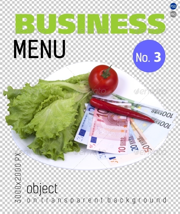 Business Menu No.3 on Transparent Backgrounds