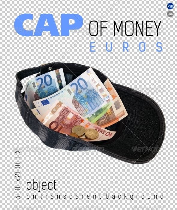 GraphicRiver Cap of Money Euros on Transparent Backgrounds 4674518