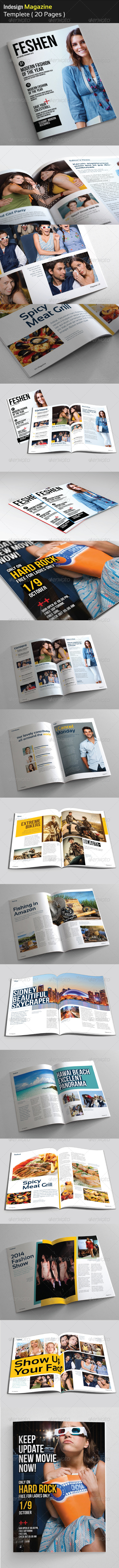 GraphicRiver Feshen Magazine Template 4701340
