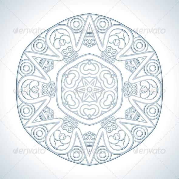 GraphicRiver Vector Round Decorative Design Element 4701427