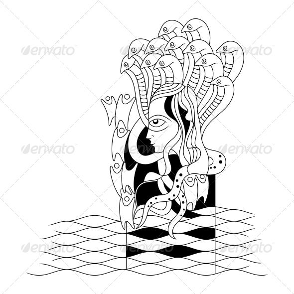 GraphicRiver Hindu Lord Vishnu Religious Vector Design 4701680