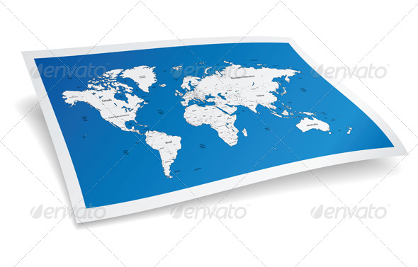 GraphicRiver Blue Vector World Map 4701696