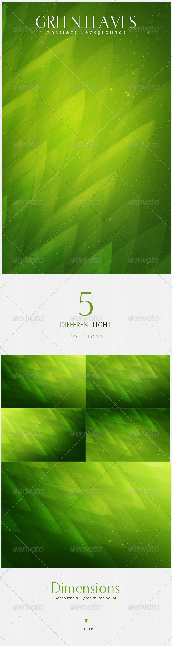 GraphicRiver Green Leaves Abstract Backgrounds V4 4628783