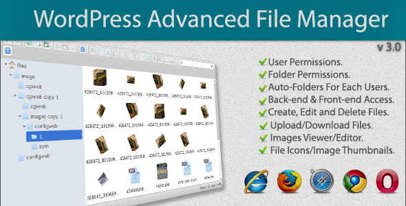 File Manager Plugin For Wordpress - CodeCanyon Item for Sale